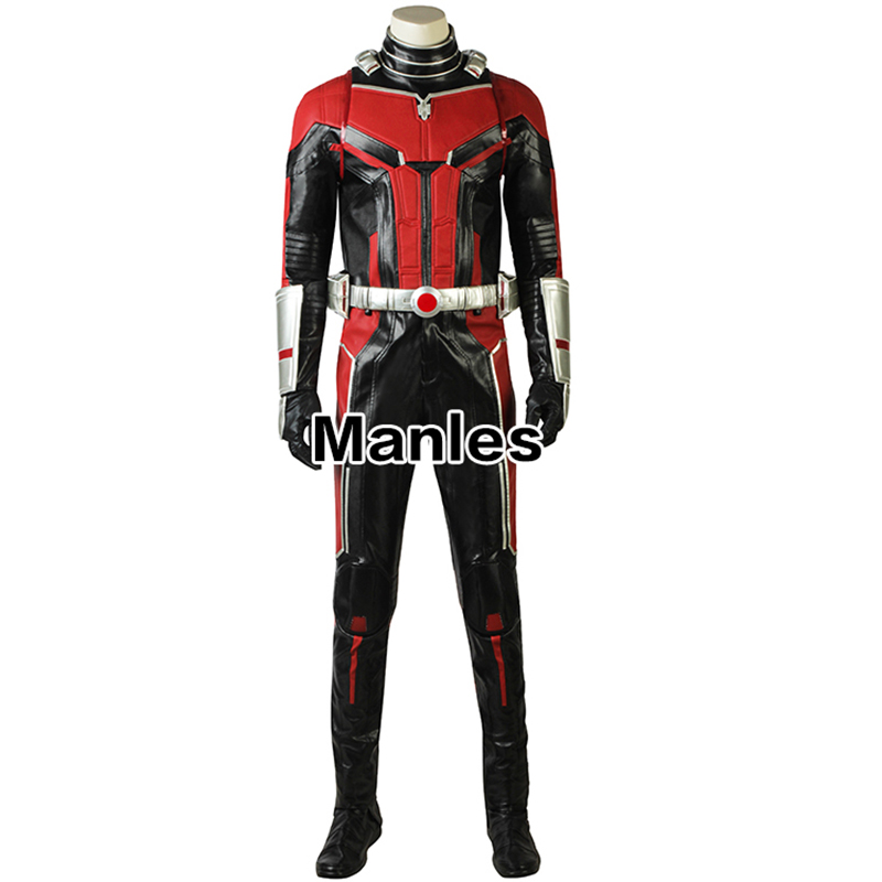 New Ant-Man Cosplay Costume Superhero Ant-Man and the Wasp Trailer #2 Halloween Christmas Cosplay Costume with Boots