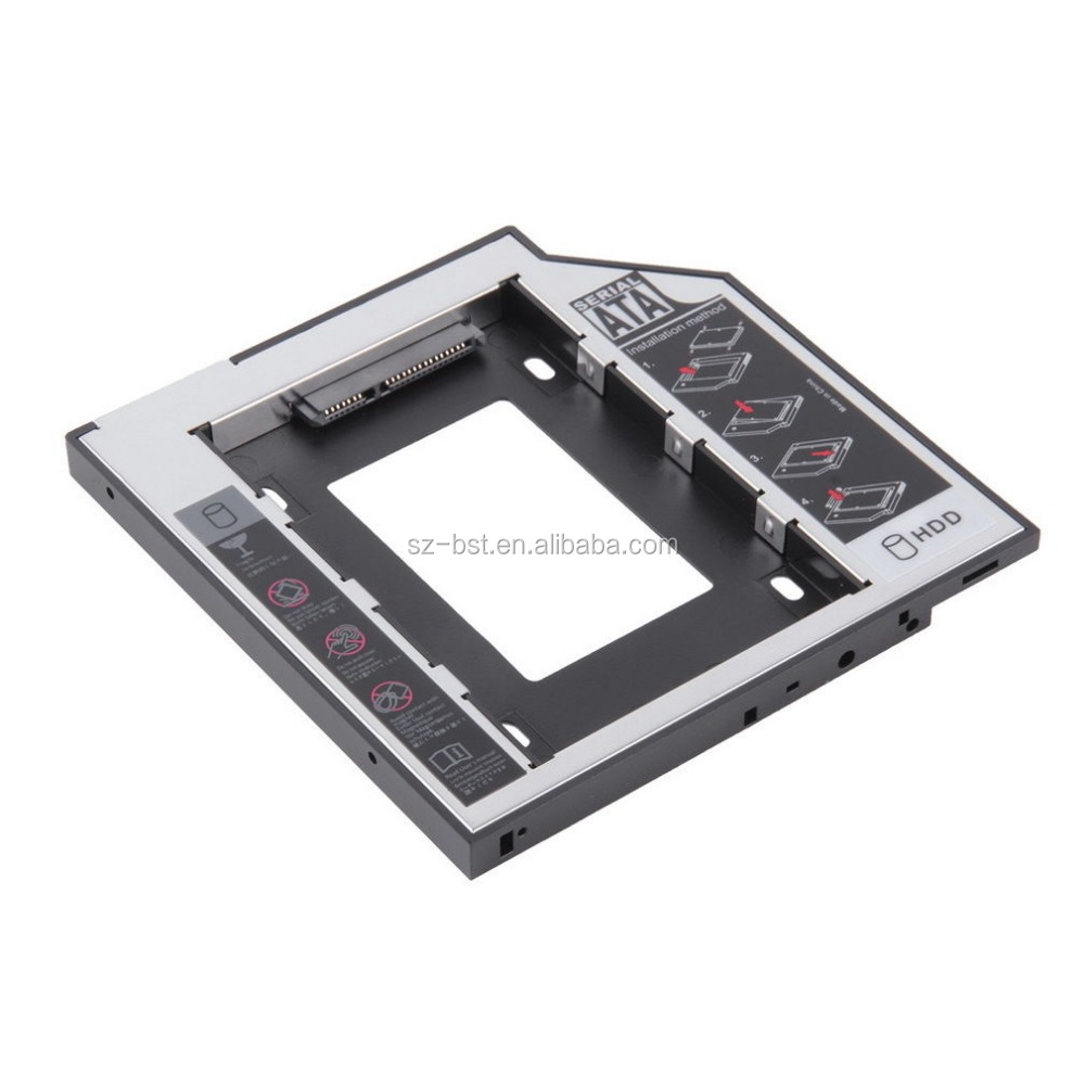 9.5mm Universale SATA secondo HDD SSD Hard Drive Caddy per CD/DVD-ROM Optical Bay
