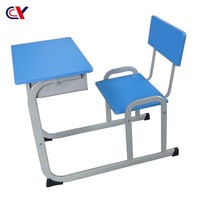 Kids study table and chair single seat primary school furniture