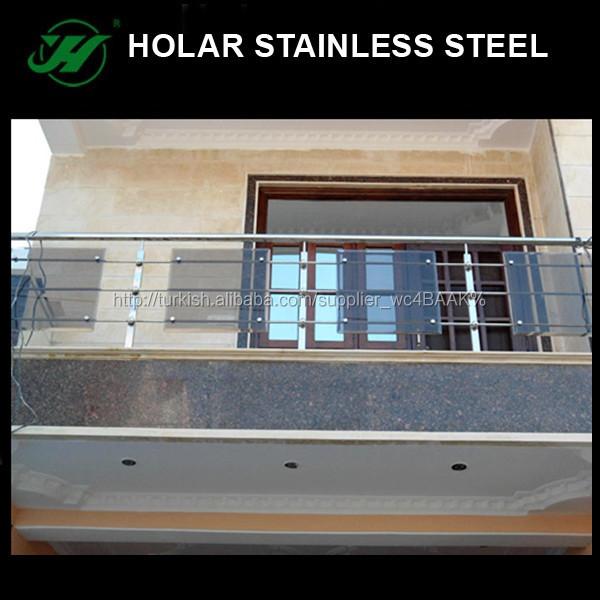 Paslanmaz Celik Balkon Korkuluk Yuksekligi Korkuluklar Ve Korkuluk