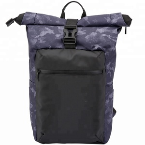 Rain cover waterproof backpack laptop roll top packable outdoor backpack