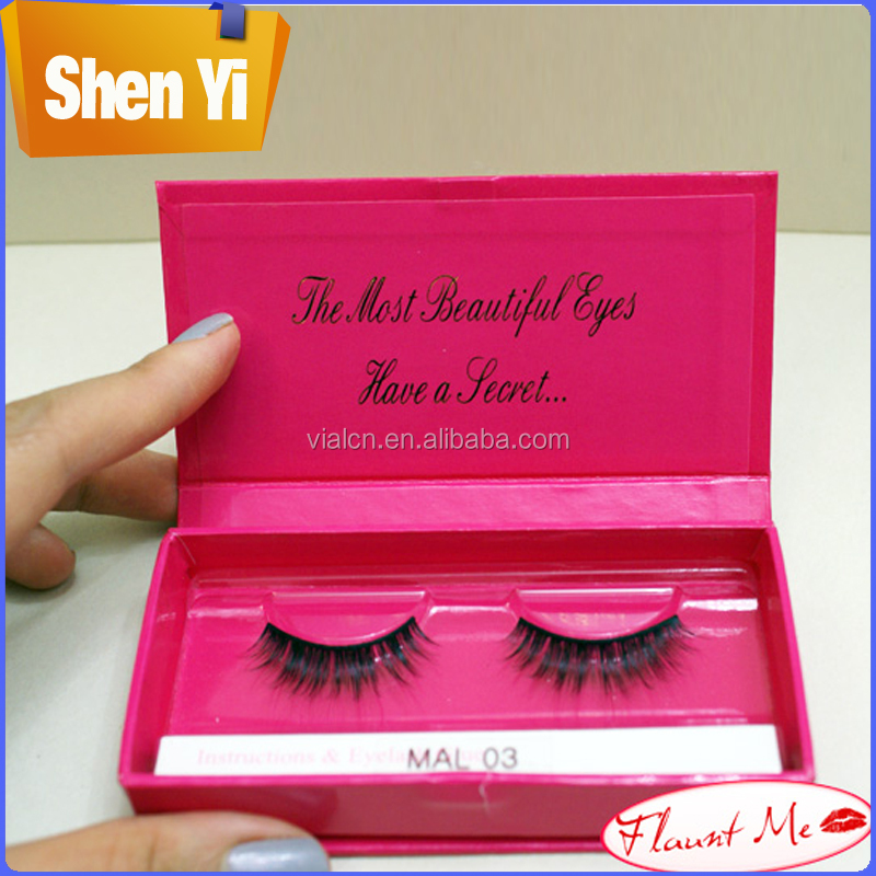 High-end custom false eyelashes paper box packaging