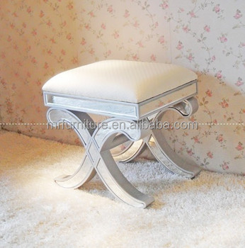 Merveilleux Mirrored Chair/stool