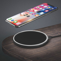 Good Quality 10w Qi Fast Charging Small Wireless Charger For Mobile Phone