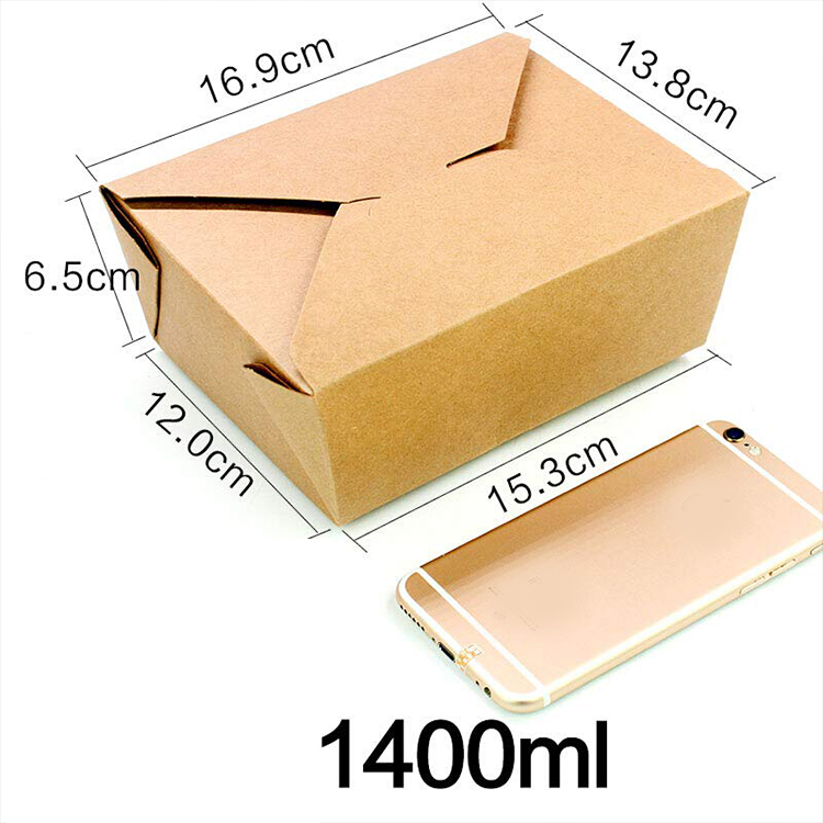 American hot sale food take away paper lunch box,custom brown paper lunch box