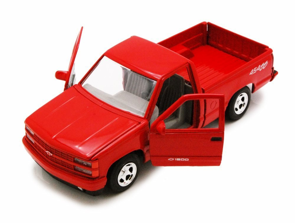 1992 Chevy 454SS Pick Up Truck, Red - Showcasts 73203 - 1/24 Scale Diecast Model Car