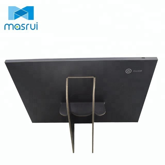 Customized Cardboard countertop display stand with 7inch LCD Screen use for POS