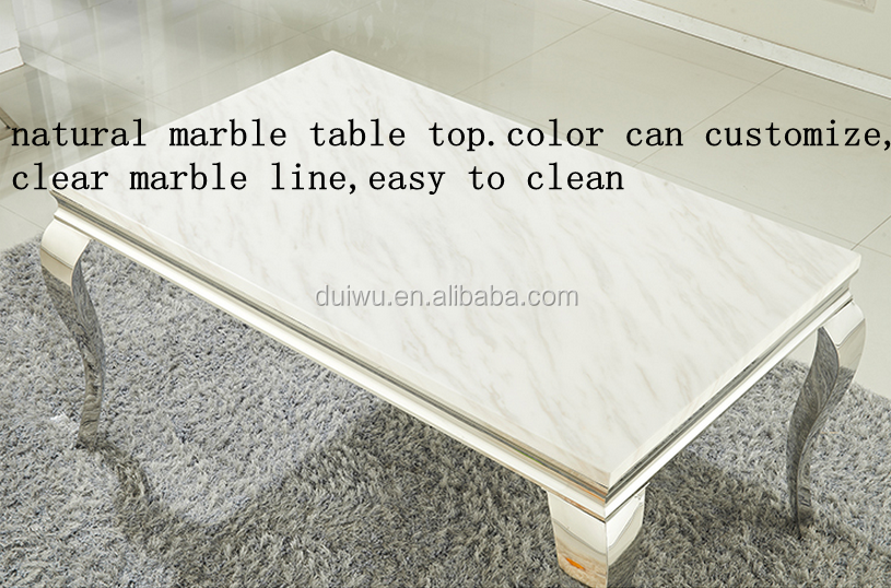 modern marble dining table with metal legs