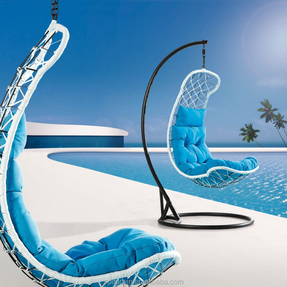 Garden Iron Outdoor Swing Hanging Chair Bed