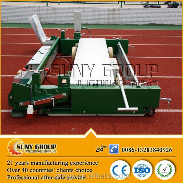 running / rubber road paver machine