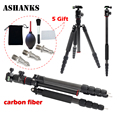 ASHNAKS Newer A28C Carbon Fiber 157cm 61 81 in Lightweight Portable Camera Tripod Monopod with 360