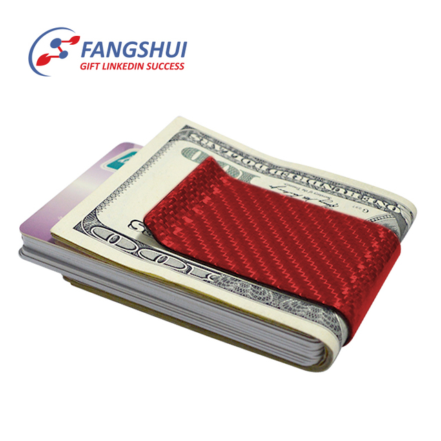 Buy cheap china red business card holder products find china red china red promotional business gifts credit card holder money clip carbon fiber money clip hardware colourmoves