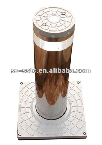 RFID Stainless steel concrete rising bollard types of bollard with EXW price for sales