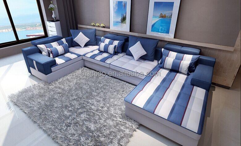 Bisini stile mediterraneo divano del soggiorno set - Salotto con divano blu ...