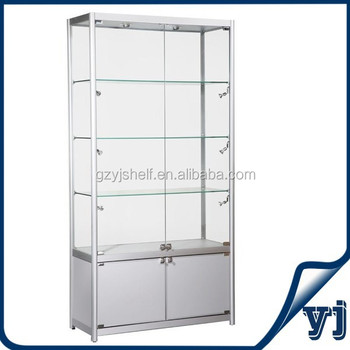 Hot Ing Rotating Gl Display Cabinet Cases With Lights