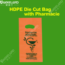 HDPE Plastic Die Cut Shopping Bags with Customized Printing