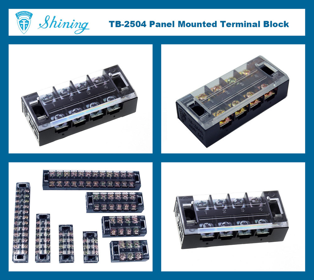 TB-2504 4-Position 25 Amp Power Cable Terminal Block