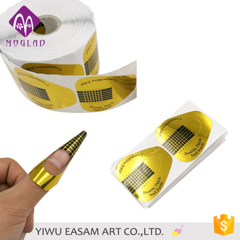 China Nail Form Factory,Horse Hoof Shoe Design Nail Form With Gold ...