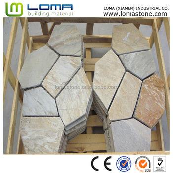 Slate Flooring Mesh Stone,Beige Slate Tiles For Sales,Wall ...