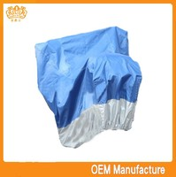 Double colour 190t silver coated 150cc motorcycle cover at factory price