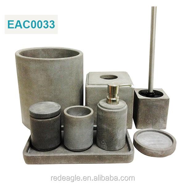 Cement of beton badkamer sets met toebehoren natuurstenen badkamer zeepdispenser badkamer sets - Badkamer was beton prijs ...