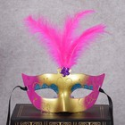 factory hot selling carnival party masquerade painted plastic cocktail feather mask