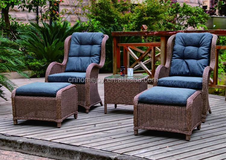 Outdoor muebles balc n rattan sofa set sof s de ca a for Sofa exterior plegable