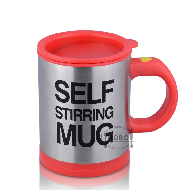Funny Electric Automatic Mixing Cup Stainless Steel Self-stirring Mug With Lids