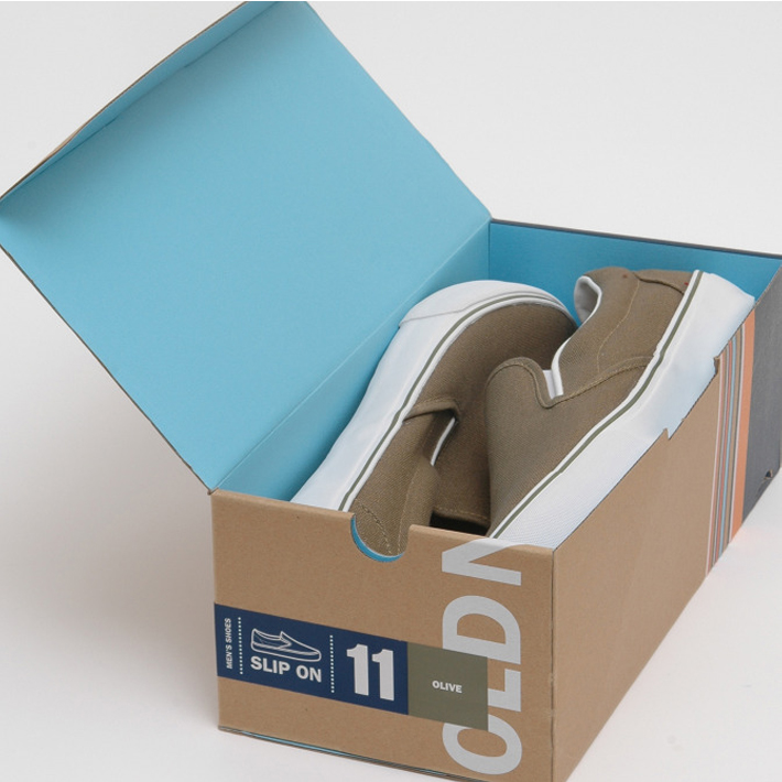 Recycled Cardboard Packaging Shoes Box Customized Manufacture