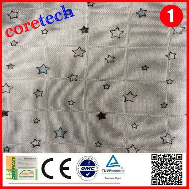 Organic anti-bacterial absorbent fabric for nappies, printed diapers