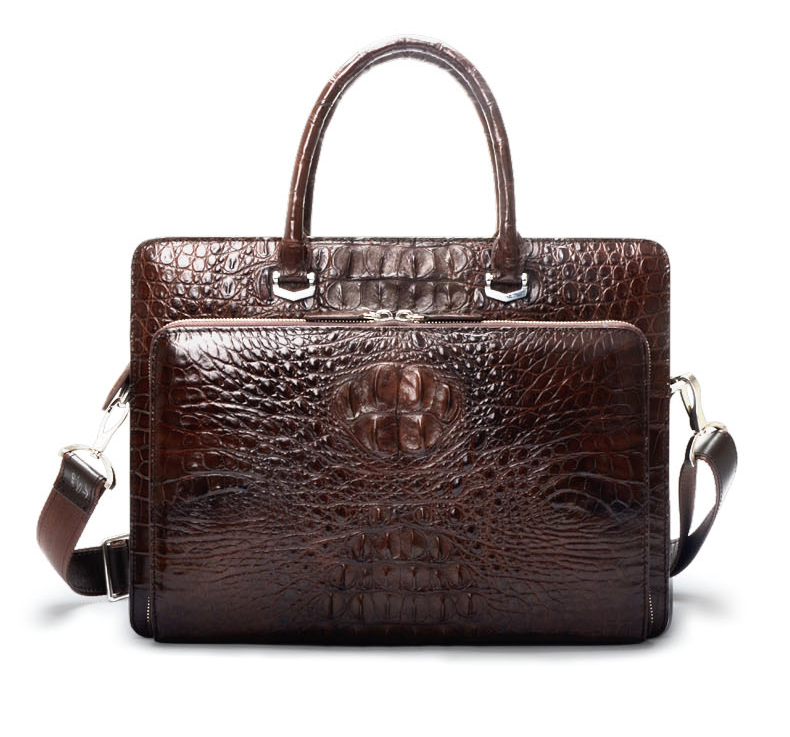 Real Crocodile Leather Men Handbag