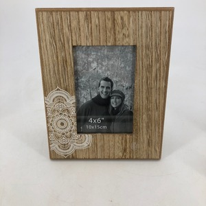 Classic natural wooden special sticker picture photo frame
