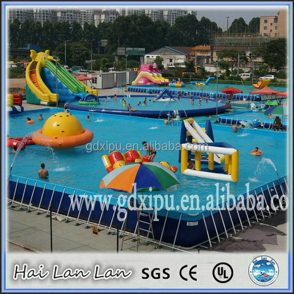 stainess steel frame Discount Folding Swimming Pool for water park