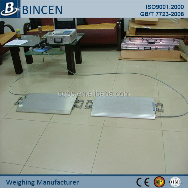 Electronic portable axle weighing scales
