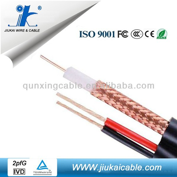 75 ohm RG59+2C Power Cable Coaxial Cable with CE/ROHS Good Quality Competitive Price *****