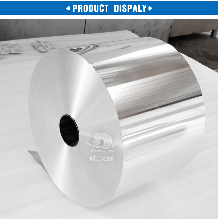 10 micron 300 / 290 / 280mm 8011 alloy food grade household packaging aluminium foil jumbo roll