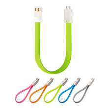 Flat Charge Sync USB 2.0 Data Cable With Magnetic For Samsung Huawei HTC Lenovo Sony LG Android Mobile Phones Noodle Data Lines
