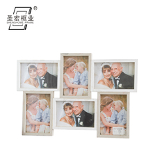 Vintage Custom Wooden Wall Picture multi aperture photo frame