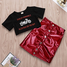 2019 fashion Baby Girl Clothing T-shirt Dress Tops Skirt Clothes Outfit 2pcs Set