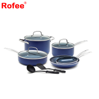 10 Pcs Forged Nonstick Diamond Ceramic Cookware Sets, Stainless Steel Pots&Pans