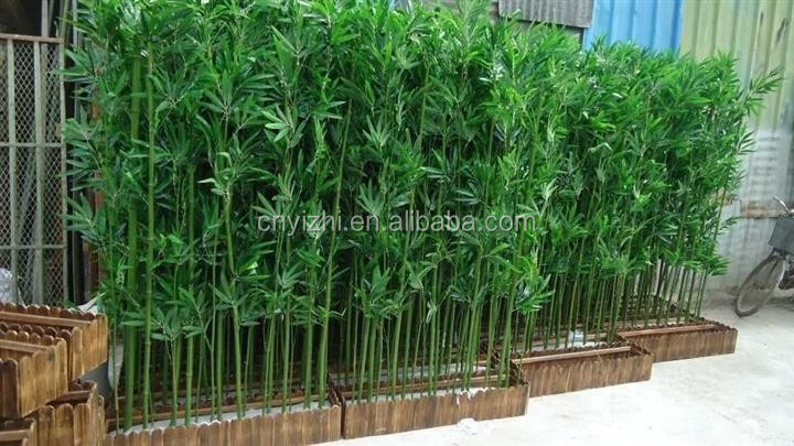 Yzp000076 bambou artificielle plantes artificielles gros for Plante artificielle jardin