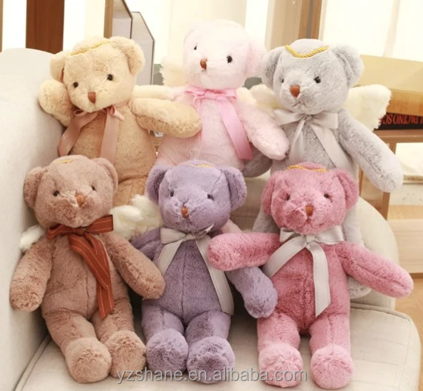 Colorful Lovely Angel Bear Plush Toy Stuffed Animal Plush Doll