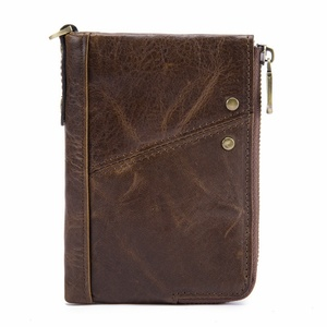Wholesale Handmade Men's Wallet with Credit Card Holder Coin Pocket Genuine Leather Wallet