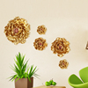 Roogo resin China unique feature modern home decoration 3d artificial colorful peony wall hanging
