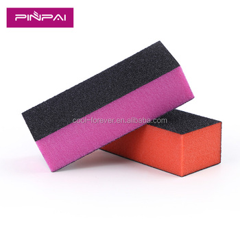 Sponge 3 Sided Buffer Nail Colorful Whole Block