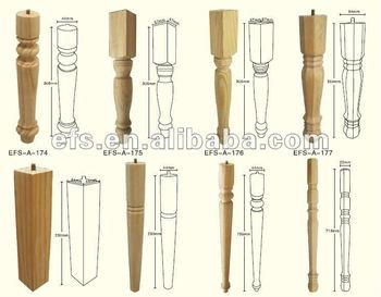 Merveilleux Solid Wooden Unfinished Modern Table Legs