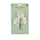 Chinese 3d White paper roses Wedding paper crafts for scrapbook wholesale Item No.57101