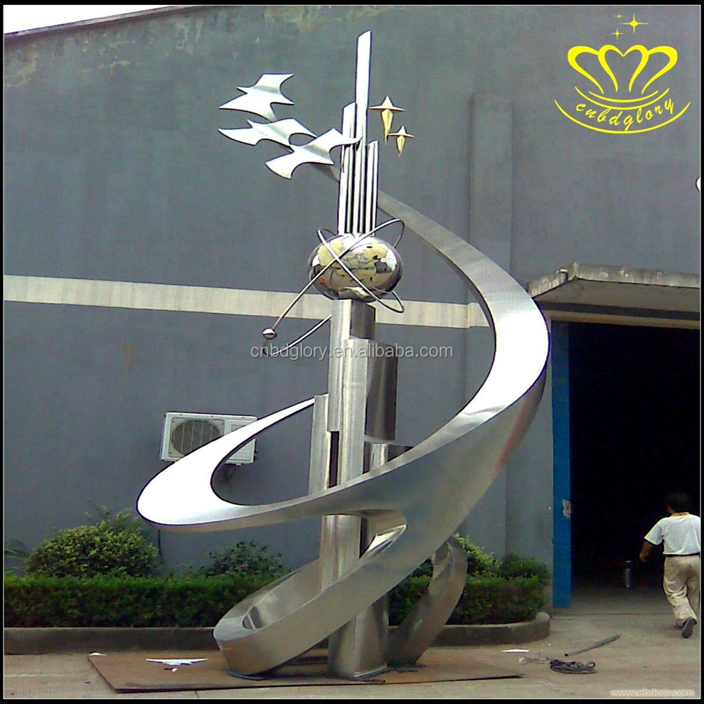 The city iconic outdoor environment stainless steel sculpture