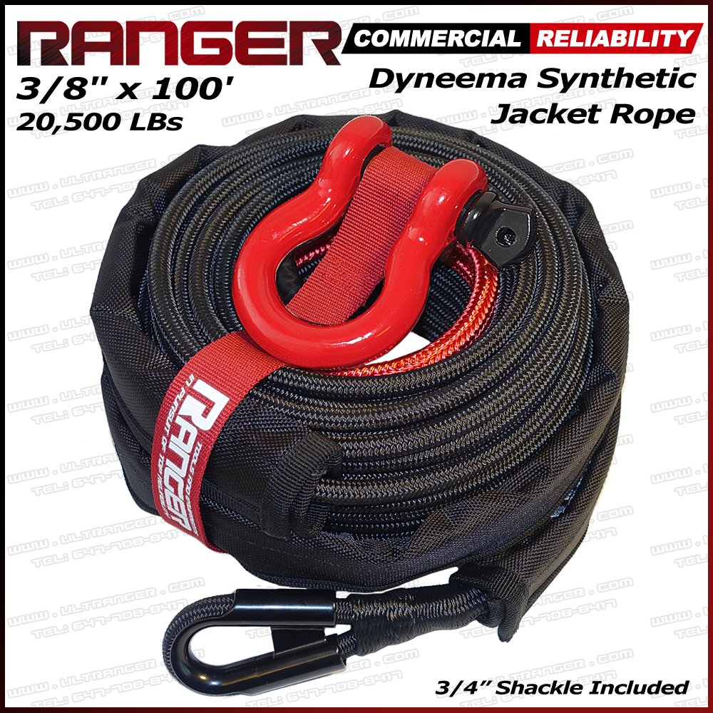 Cheap Dyneema Sk75 Winch Rope Find Deals On Quadboss 2500lb Wiring Diagram Get Quotations Ranger 3 8 X 100 Jacket Synthetic 20500lbs With