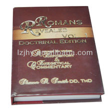 hard cover full color book printing with gold stamping